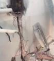 بالفيديو .. حريق عداد كهرباء يخلي طالبات الثانوية الثانية بمدينة #المبرز