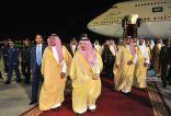 سمو ولي العهد يصل إلى الرياض