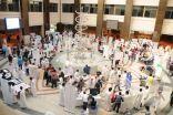 بالصور .. 940 طالبا بجامعة الدمام ينظمون حملة صحية للتوعية بأضرار الوجبات السريعة