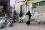 اكثر من 7 آلاف قطعة شتوية وزعتها الحملة الوطنية السعودية على اللاجئين السوريين