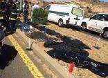 بالصور .. حادث مروع يحصد أرواح عائلة كاملة كانوا في طريقهم لأداء العمرة