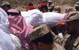 بالصور: جنازة النقيب ياسر آل منصور الذي استشهد إثر سقوط قذيفة هاون بنجران