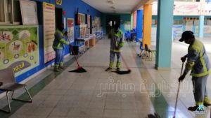 بالصور : تطهير مدارس الشرقية التي اُستخدمت سكنا للعمالة