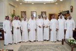 الجبير يستقبل اعضاء المجلس البلدي بمحافظة راس تنورة