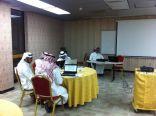 ورشة عمل البرنامج الإلكتروني  ( المقررات والفصلي ) بثانوية الإمام النووي بالأحساء