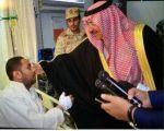 """اسرة """" العيد """" تشكر القيادة على الإهتمام  بإبنها """" سلمان """" الجندي المصاب بحادث اﻻحساء الغاشم"""
