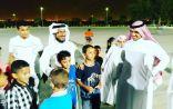 بالصور .. عيدية وترفيه للأطفال مع فريق فجر الأمل التطوعي البحريني السعودي