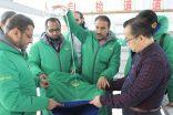 الحملة الوطنية السعودية تشرف على تفويج اخر جسور الاغاثية الشتوية